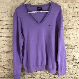 Tommy Hilfiger Women's Purple Sweater XXL
